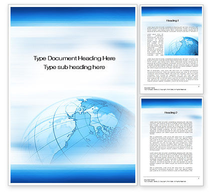 Business Presentation Word Template, 10224, Business — PoweredTemplate.com