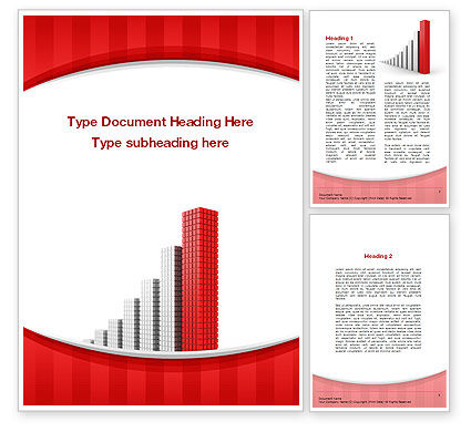 Column Chart Word Template, 10225, Business Concepts — PoweredTemplate.com