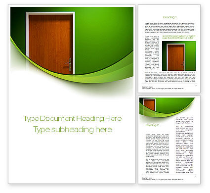 Construction: Door Word Template #10227