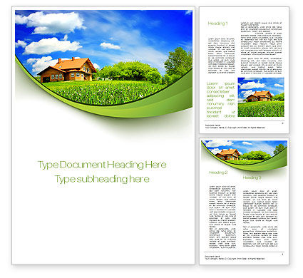 Construction: Village House Word Template #10235