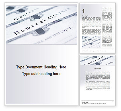 Legal Documents Word Template, 10238, Legal — PoweredTemplate.com
