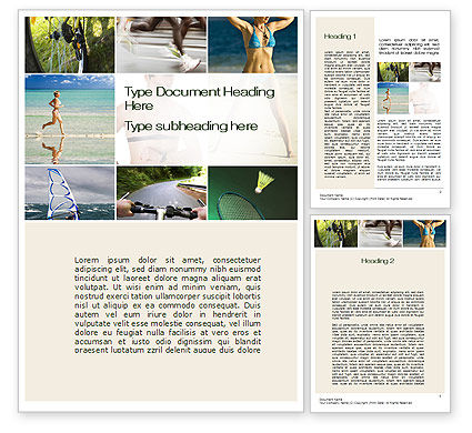 Sports Lifestyle Word Template, 10246, Sports — PoweredTemplate.com