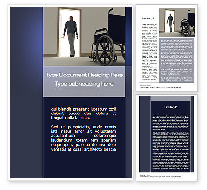 Medical Recovery Word Template, 10249, Medical — PoweredTemplate.com