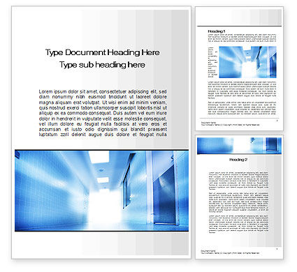 Light at the End of Corridor Word Template, 10259, Medical — PoweredTemplate.com