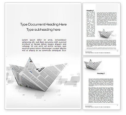 Paper Boat Word Template, 10268, Business Concepts — PoweredTemplate.com