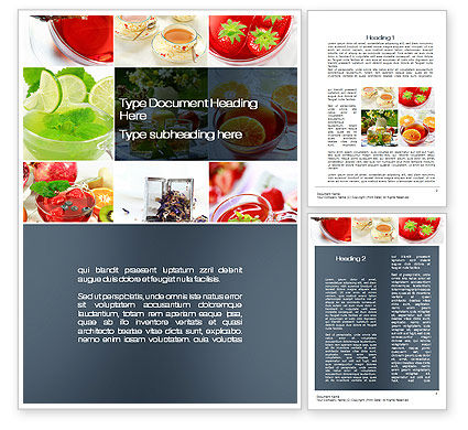 Food & Beverage: Fruit Desserts Word Template #10272