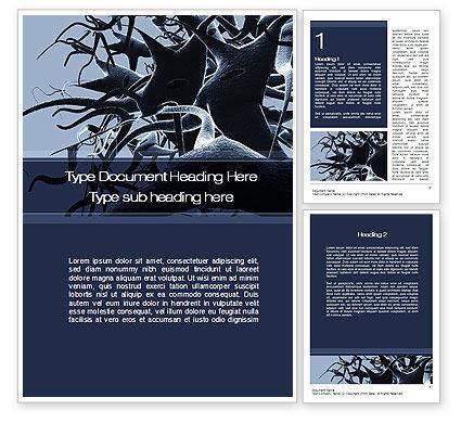 Neurons Cluster Word Template, 10273, Medical — PoweredTemplate.com