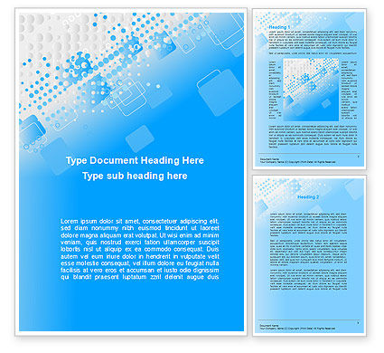 Abstract/Textures: Dotted Blue Word Template #10276