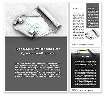 Industrial Design Word Template, 10277, Careers/Industry — PoweredTemplate.com