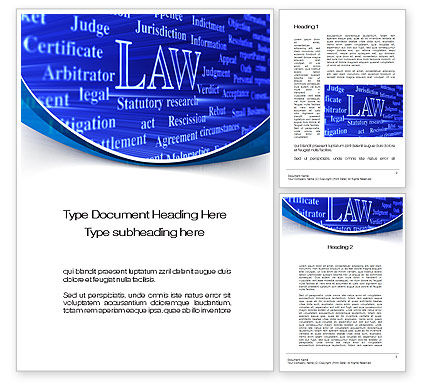 Law Word Template, 10278, Legal — PoweredTemplate.com