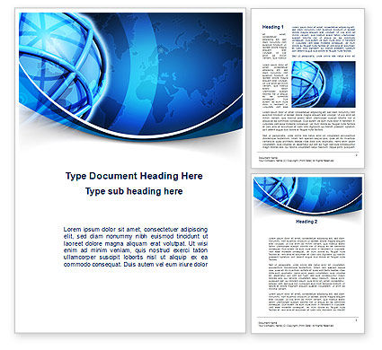 World Presentation Word Template, 10281, Global — PoweredTemplate.com