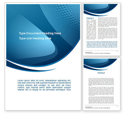 curved blue word template 10288 poweredtemplate com