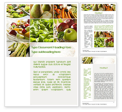 Vegetarian Word Template, 10298, Food & Beverage — PoweredTemplate.com