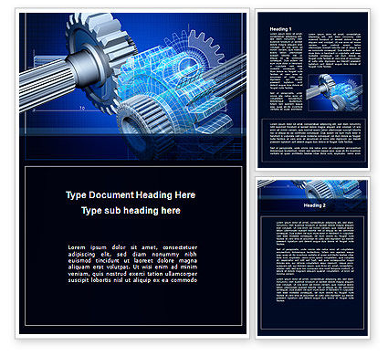Prototype of Mechanism Word Template, 10301, Utilities/Industrial — PoweredTemplate.com