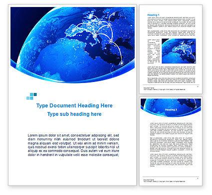 European Connections Word Template, 10306, Business — PoweredTemplate.com