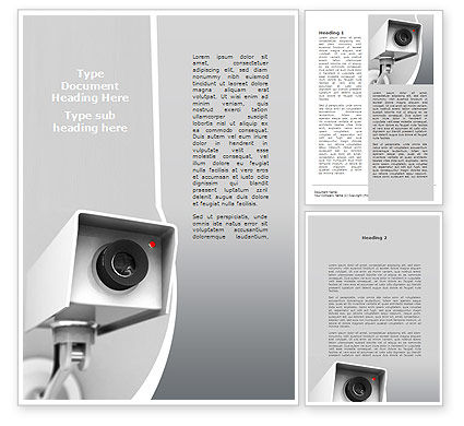 Surveillance Word Template, 10307, Careers/Industry — PoweredTemplate.com
