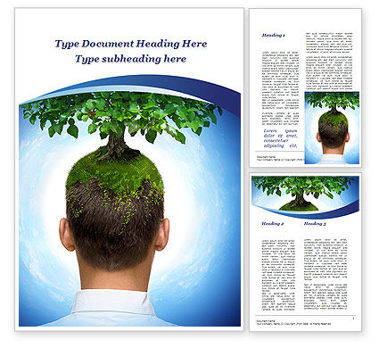 Nature & Environment: Think Green Word Template #10309
