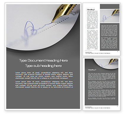 Document Signing Word Template, 10312, Legal — PoweredTemplate.com