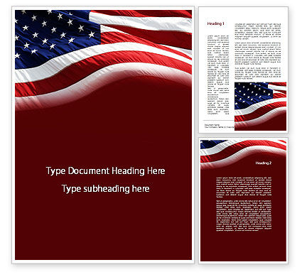 Old Glory Word Template, 10315, Flags/International — PoweredTemplate.com