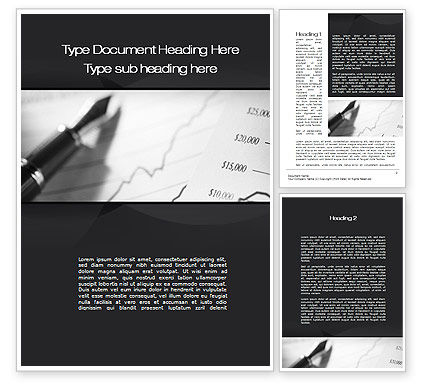 Financial Report Word Template, 10324, Financial/Accounting — PoweredTemplate.com