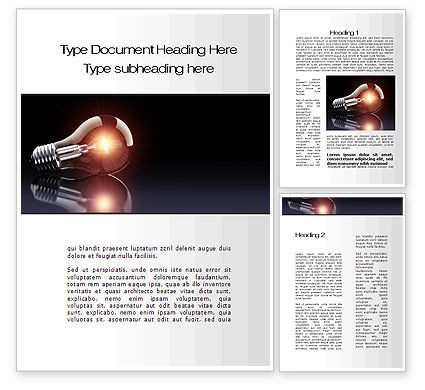 Bulb Word Template, 10331, Business Concepts — PoweredTemplate.com