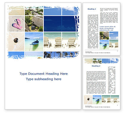 Resort Presentation Word Template, 10334, Careers/Industry — PoweredTemplate.com