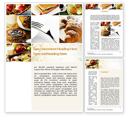 Confectionery Word Template, 10347, Food & Beverage — PoweredTemplate.com