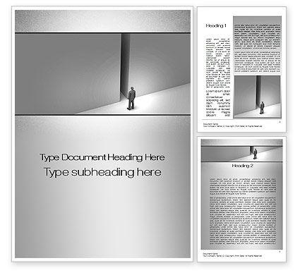 No Alternative Word Template, 10361, Business Concepts — PoweredTemplate.com