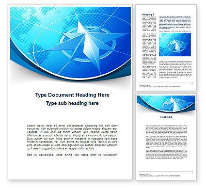 Wind Rose Word Template, 10364, Business Concepts — PoweredTemplate.com