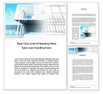 Design Concept Word Template, 10371, Careers/Industry — PoweredTemplate.com