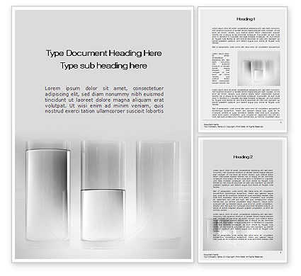 Consulting: Glas Staafdiagram Word Template #10374