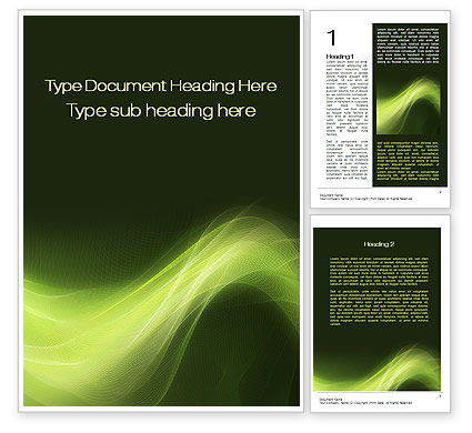 Abstract/Textures: Green Wave Word Template #10379