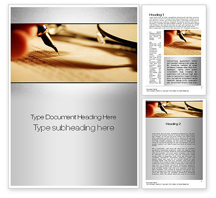Agreement Signing Word Template, 10381, Legal — PoweredTemplate.com