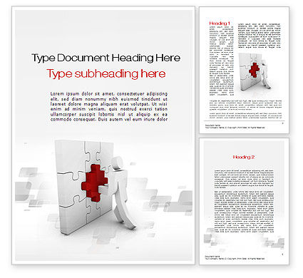 Consulting: Building Puzzle Word Template #10386