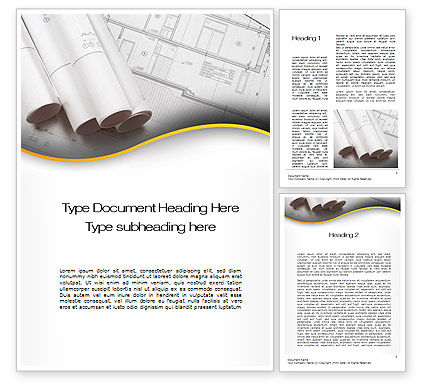 Careers/Industry: Design Documents Word Template #10388