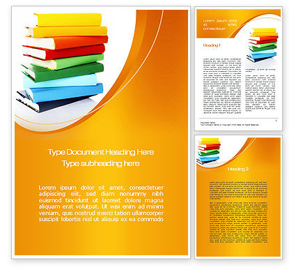 Stack of Books Word Template