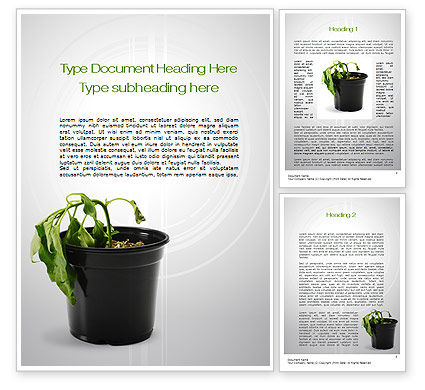 Withered Plant Word Template, 10393, Agriculture and Animals — PoweredTemplate.com