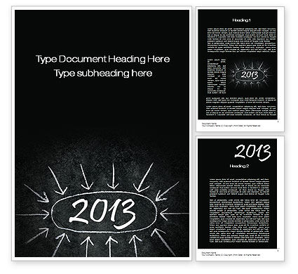 Consulting: New Year Brain Storm Word Template #10396
