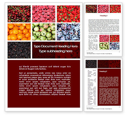Greengrocery Word Template, 10397, Agriculture and Animals — PoweredTemplate.com