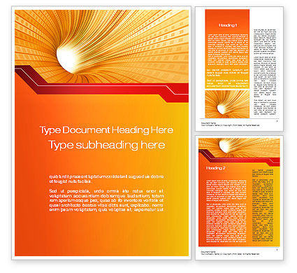 Abstract/Textures: Orange Tunnel Word Template #10400