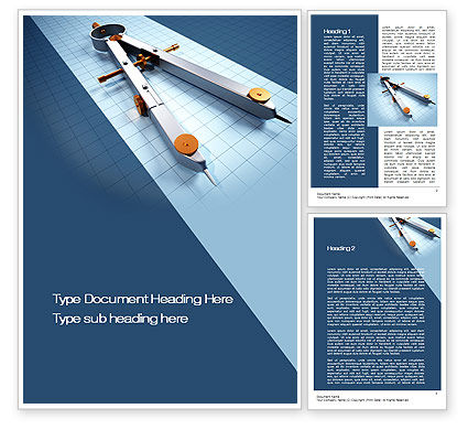 Compass Divider Word Template, 10401, Utilities/Industrial — PoweredTemplate.com