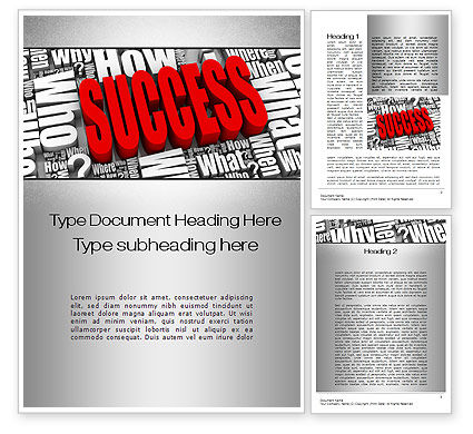 How to Succeed Word Template, 10402, Careers/Industry — PoweredTemplate.com