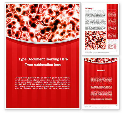 Microscopically Word Template, 10403, Medical — PoweredTemplate.com
