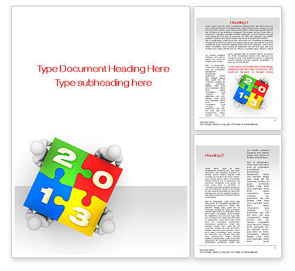 2013 ny Puzzle Word Template, 10408, Business Concepts — PoweredTemplate.com