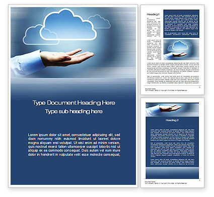 Cloud Solutions Word Template, 10410, Technology, Science & Computers — PoweredTemplate.com