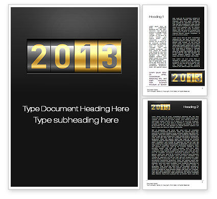 Holiday/Special Occasion: New Year Counter Word Template #10420