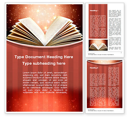 Education & Training: Magic Book Word Template #10421