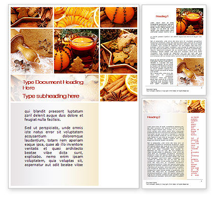 Holiday/Special Occasion: Christmas Cooking Word Template #10423