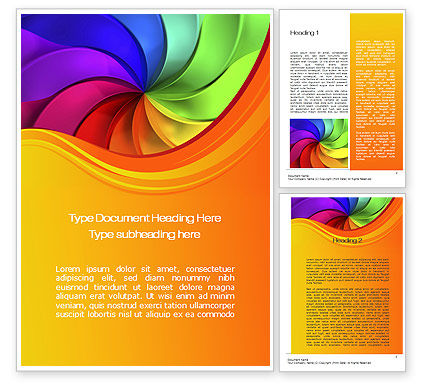 Abstract/Textures: Rainbow Swirl Word Template #10432
