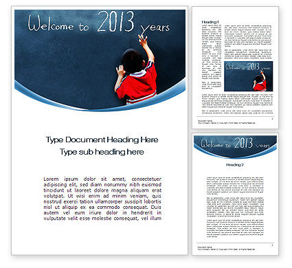Education & Training: Welcome to 2013 Word Template #10434
